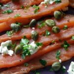 homemade lox with capers