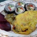 Stir-fry omelette